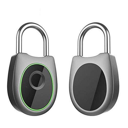 Candado de huellas dactilares inteligentes, cerradura sin llave anti-robo, seguridad portátil, resistente a la intemperie, soporte de carga USB, para puerta, caja fuerte, bicicleta, casillero de gimna