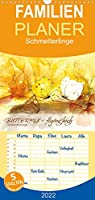 BUTTERFLY - flying high, Schmetterlinge - Familienplaner hoch (Wandkalender 2022 , 21 cm x 45 cm, hoch): Zwoelf maerchenhafte Aquarelle von Schmetterlingen. (Monatskalender, 14 Seiten )