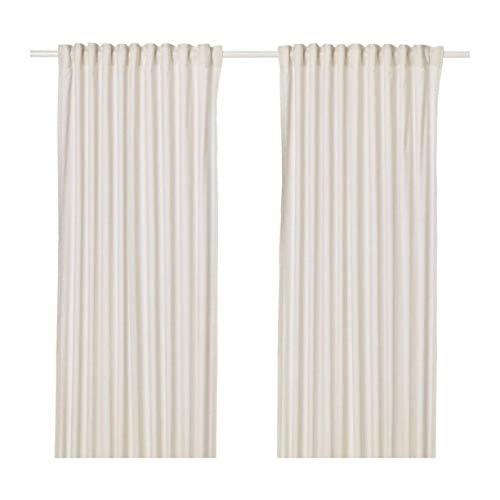 IKEA Hannalill Curtains 1 Pair Beige 304.108.83 Size 57x98