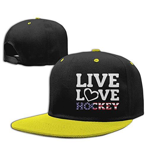 Kids Live Love American Flag Hockey Snapback Hats Adjustable Hip Hop Flat Brim Baseball Cap Retro Sports Cap Hüte, Mützen & Caps