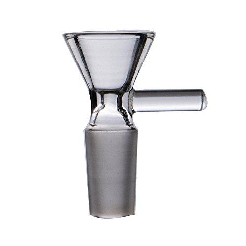 RORA Glass Bong 14.4mm y 18.8mm Claro Pipas de Agua Hookah Fumar Bong Tazon Bubbler Ash Catcher Cabeza Pipa de Vidrio (18.8mm Joint Size-B)