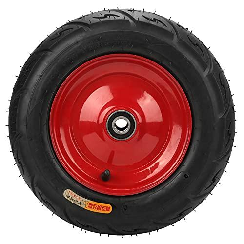 Reemplazo de rueda de neumático de 13 pulgadas Seguro sin cámara resistente al desgaste Acero al vacío Antideslizante Neumáticos de alambre de carga fuerte 20 mm 300-8