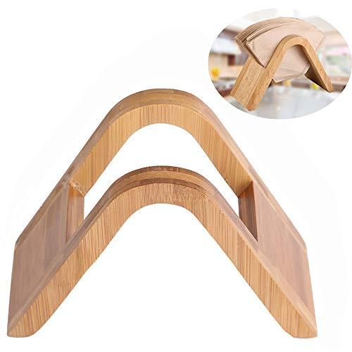 inherited Kaffeefilterhalter, Holder Dispenser Papier, Filterpapierhalter aus Holz Bambus, Erneuerbare Bambus Fächerförmige Kaffee Filtertütenhalter für Filtertüten