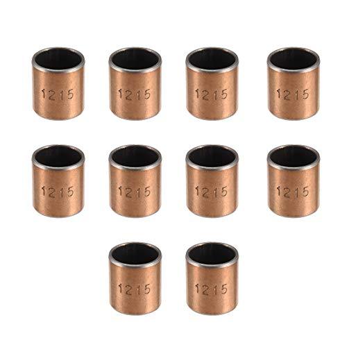 Sourcingmap Hülse (einfarbig) Kugellager, 12 mm Innendurchmesser, ölfrei, selbstschmierend, Buchsen, 12*14*15 (10Qty)