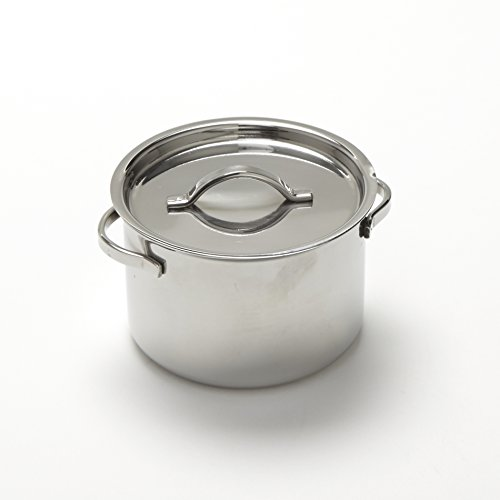 American Metalcraft MPL8 Stainless Steel Mini Pot with Lid, 8 oz.