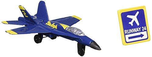Daron Worldwide Trading Runway24 F/A-18 Angels No Runway Vehicle, Blue