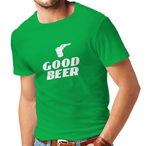 lepni.me Männer T-Shirt Ich Brauche EIN gutes Bier, Geschenk für Bierliebhaber Partykleidung (X-Large Grün Weiß)