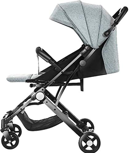 Check Out This Baby Strollers Can Sit and Lie Down and Fold for One Button Seconds 3 Colors Availabl...
