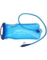 2L Draagbaar Hydratatie-blaas Waterzak TPU drinkwaterzak Wateropslagzak Drink waterzak met geïsoleerde buis voor Outdoor Hiking Camping Running Cycling Blauw