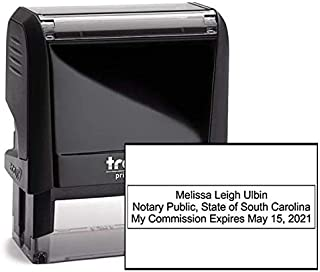 South Carolina Rectangle Notary Stamp -SC Official Notary Stamp - Enter Custom Text