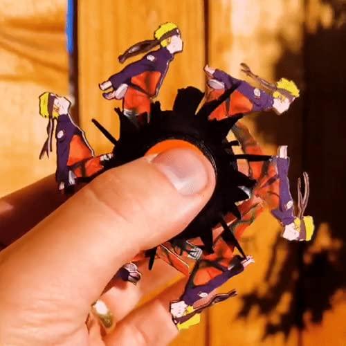 BGYVNU Spinner Animado Ninja Run - Spinner Animado con Corte láser Ninja Run, Regalos de Fiesta, Regalo de cumpleaños para niños y Adultos (Ninja Run A)