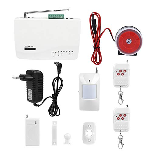 FOLOSAFENAR Marcador automático SMS Alarma de Incendio y antirrobo para el hogar(100-240V European Standard)