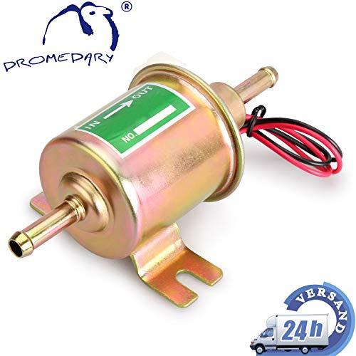 Dromedary 12V Universal HEP-02A Elektrische Kraftstoffpumpe Benzinpumpe 70 L/H Gold Dieselpumpe