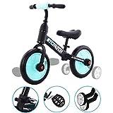 Yealeo 4 in 1 Bicicletta per Bambini, Bicicletta Equilibrio Adatto per 2, 3, 4 e 5 Anni co...