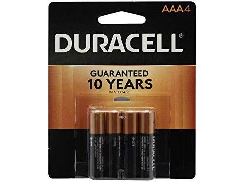 Duracell, MN2400B4Z, Standard Battery, AAA, Alkaline, PK4,Black