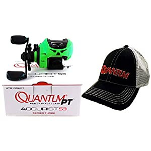 QUANTUM PT ACCURIST S3 ATG100HPT 7.0:1 Right Hand BAITCAST Reel + HAT