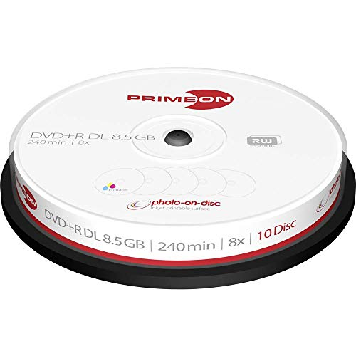 Primeon 2761254 DVD+R DL Rohling 8.5 10 St. Spindel Bedruckbar