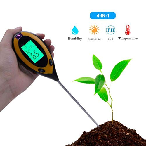 Affordable 4-in-1 Soil Test Kit pH Moisture Meter Plant Water Light Tester Testing Kits for Garden P...