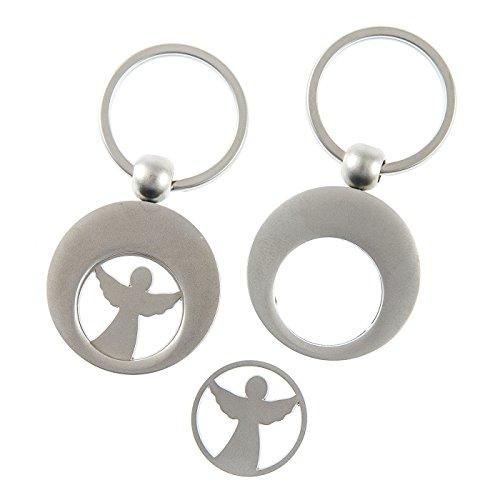 Christliche Geschenkideen Schlüsselanhänger Schutz- Engel mit Einkaufswagenchip
