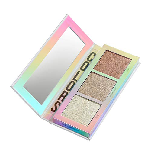 BEETIQUE® Highlighter Palette Face Glow Champagne - Vegane Premium Highlighter Palette - Akzentuiertes Und Leuchtendes Make-Up - Hochwertige Schminke - Professionelle Kosmetik Ergebnisse - 1 Stück