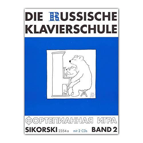 La escuela de piano ruso banda 2 – Edición alemana con más de 90 piezas de juego y ejercicios, así como guía de sonido, acordes y tabla de arpeggia (notas).