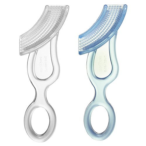 Baby Buddy Baby's 1st Toothbrush, Blue-Clear (Pack of 2) by Baby Buddy