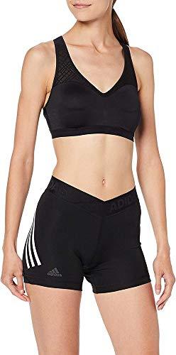 adidas Alphaskin Sport 3 Bandas Mallas Cortas, Mujer, Negro (Black), L