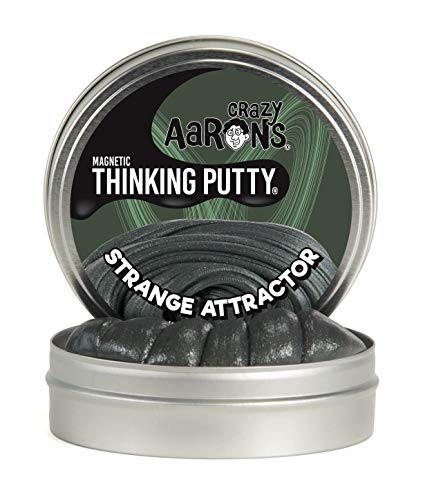 Crazy Aaron's Thinking Putty 4' Tin - Strange Attractor - Magnetic Putty with Memory Effect, Soft Texture - Never Dries Out