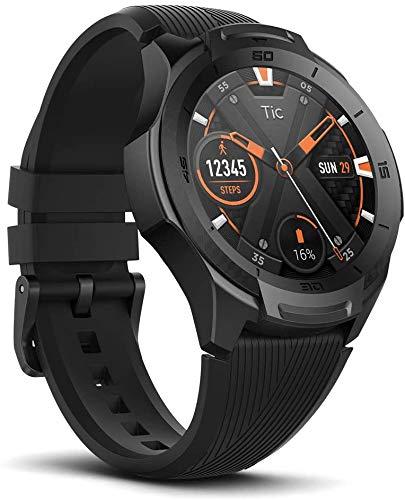 TicWatch S2, durata militare statunitense, impermeabile 5 ATM, GPS integrato, cardiofrequenzimetro, musica, smartwatch sportivo Wear OS by Google, compatibile con Android e iOS, nero.