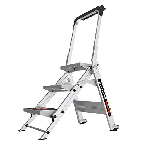 Little Giant Ladders Safety Step 3Step 3 Foot Step Stool Aluminum Type 1A 300 lbs Weight Rating 10310BA