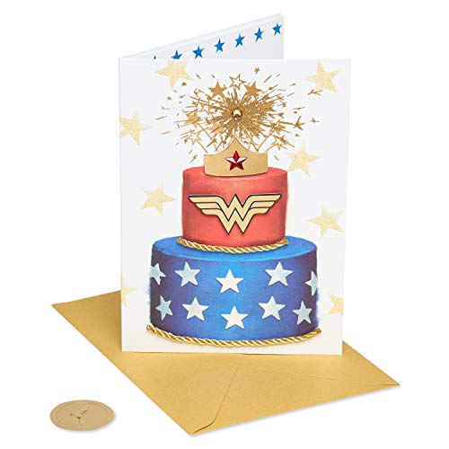 Papyrus Birthday Card for Her (Wonder Woman Cake), 4200485