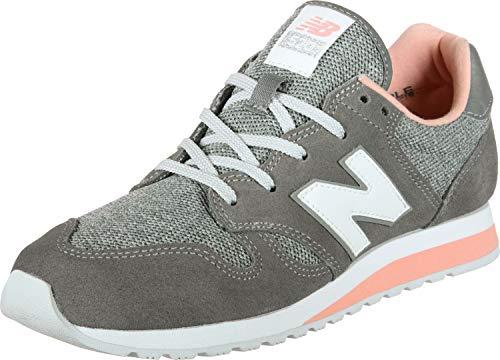 New Balance Damen WL520TLB Sneaker, Grau (Castlerock/Pink Mist Tlb), 40.5 EU