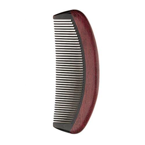 MERIGLARE Peigne à Dents De Bois De Santal Naturel Anti Statique Cheveux Raides Massage Dents Fines - D