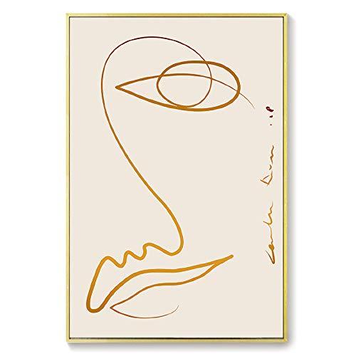 Astratto Parete Arte Países escandinavos de la tela de cáñamo Arte Líneas Cuadros Minimalista Póster Moderno Salón Dormitorio Girls Dormitorio Cuadro Decoraciones 40 x 60 cm No enmarcado