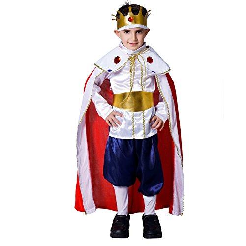 SEA HARE Kinder Deluxe König Kostüm Set (L :10-12 Jahre)