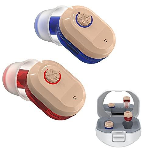 GUOIOOI Wiederaufladbarer Soundverstärker Für Erwachsene, Voice Enhancer Gerät Mit Ladebox, Unsichtbares In-Ear Mini Sound Enhancer Set (1 Paar)