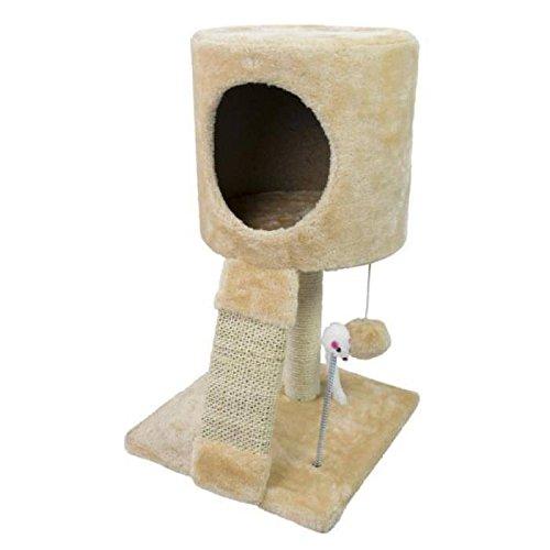 Pets Collection Albero Tiragraffi Palo per Gatti con Cuccia Gioco Altezza 51 cm Colore Beige