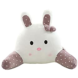 Cute Rabbit, Soft and Plush Kids Bed Rest reading Pillows with Arms. Also available in Pink, Pea Green and light purple.