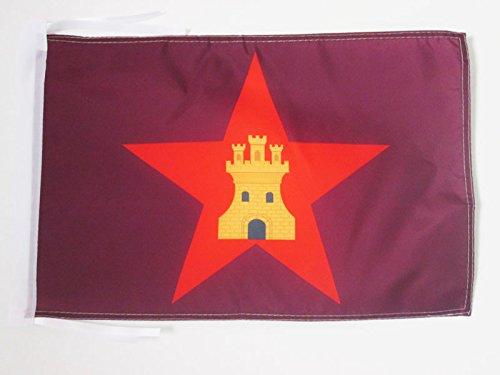 AZ FLAG Bandera de Castilla COMUNERA INDEPENDENTISTA 45x30cm - BANDERINA CASTELLANA NACIONALISTA 30 x 45 cm cordeles