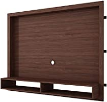 BRV Moveis TV Panel Shelf with Two Shelves for 55 in ch TV - Brown