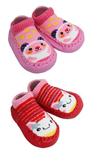LCH - Patucos Forro polar niño rosa rosa