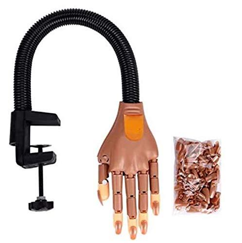Faux ongles pratique - Main flexible - 100 pièces de recharge de carénage - Outil de manucure et de nail art - Entraînement pratique