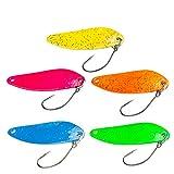 FISHN Trout Spoon Set – Casper, Gewicht: 5 Gramm, Länge: 4 cm, Forellenköder, Forellenspoons, Forellen Köder zum Angeln auf Forellen, Saiblinge und Barsche (5-teilig)