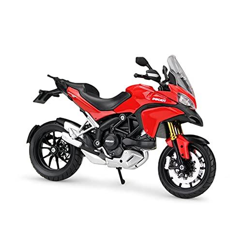 El Maquetas Coche Motocross Fantastico 1:12 para Ducati-Multistrada 1200S Mini Aleación Modelo De Motocicleta Niño Y Niña Juguete Colección De Regalos Adornos Expresión De Amor