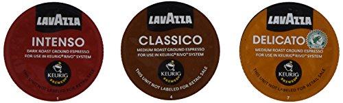 30 Count - Lavazza Sampler Pack for Keurig Rivo (3 Flavors, 10 Pods Each)No Decaf
