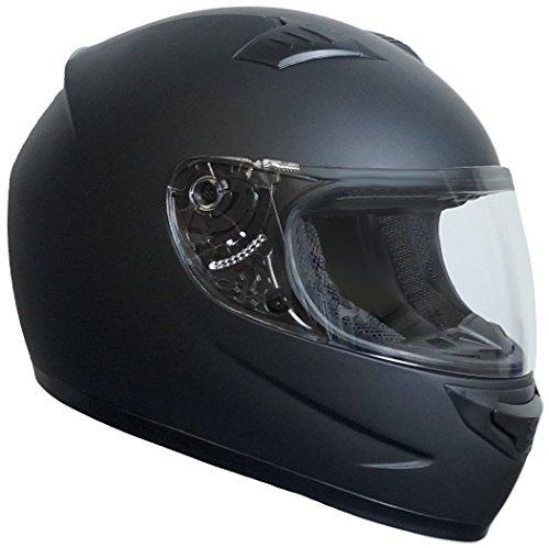 Rallox Helmets 508 Casco para motocicletas, color negro mate (tallas S