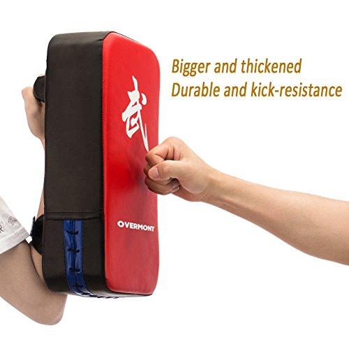 Overmont PU Leder Schlagpolster Schlagkissen Kickschild Boxsack für Kickboxen Thaiboxen Karate Abbildung 2