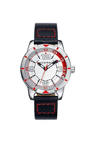 Viceroy Jungen Analog Quarz Uhr mit Leder Armband 40447-04