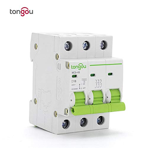 Type D AC 3 Pole 10A 16A 20A 25A 32A 40A 50A 400V Circuit Breaker 3p Switch 50/60HZ MCB DIN Rail Mount Overload Protection-3P_D50