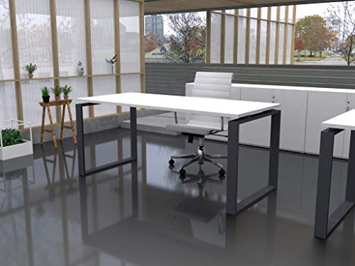 Mesa de Oficina con Estructura Cerrada, de 140x60cm. FABRICACIÓN Nacional. Entrega de 3 a 7 dias. (Tablero Blanco, Estructura Gris Grafito)